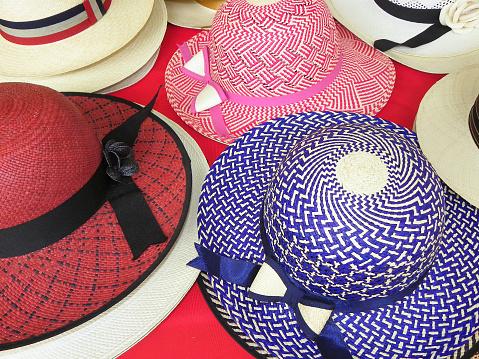 Handmade natural Panama Hats, Ecuador