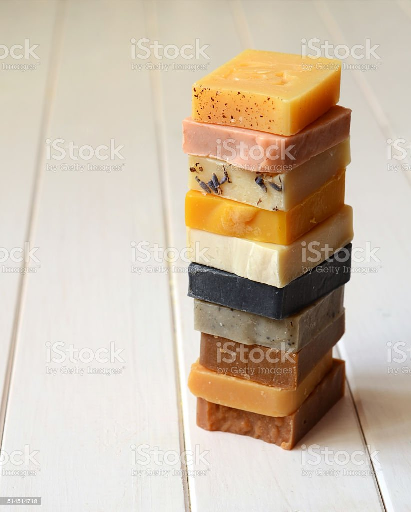 Handmade Natural Soap stock photo
