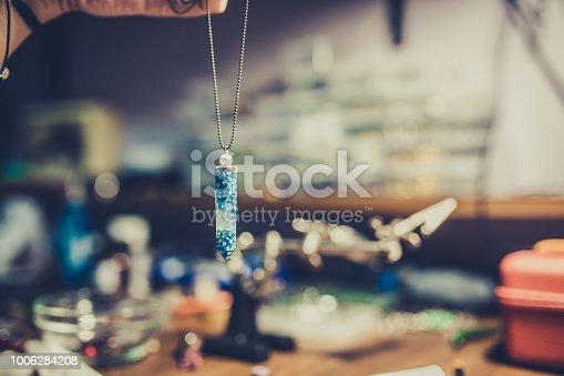istock Handmade necklace 1006284208