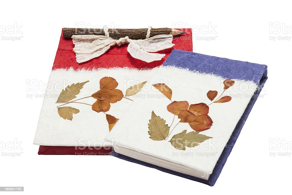 Handmade paper book royalty-free stock photo