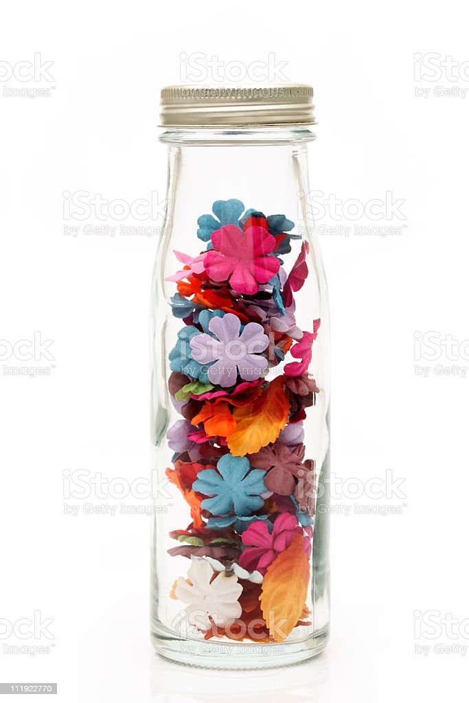 Handmade paper flower royalty-free stock photo
