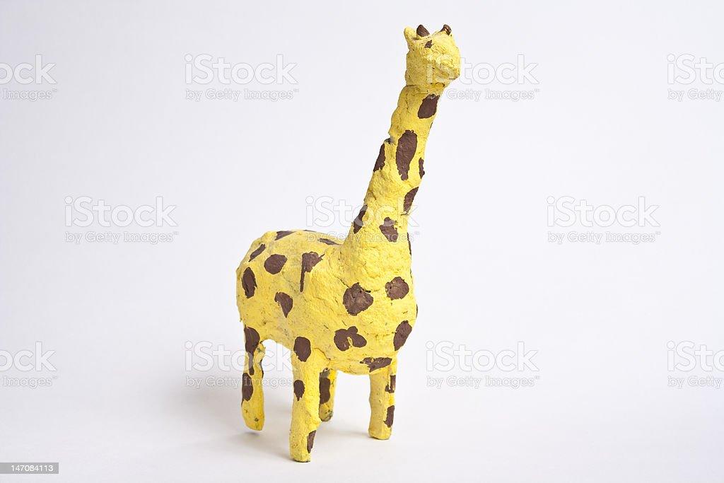 Handmade Paper Mache Giraffe stock photo