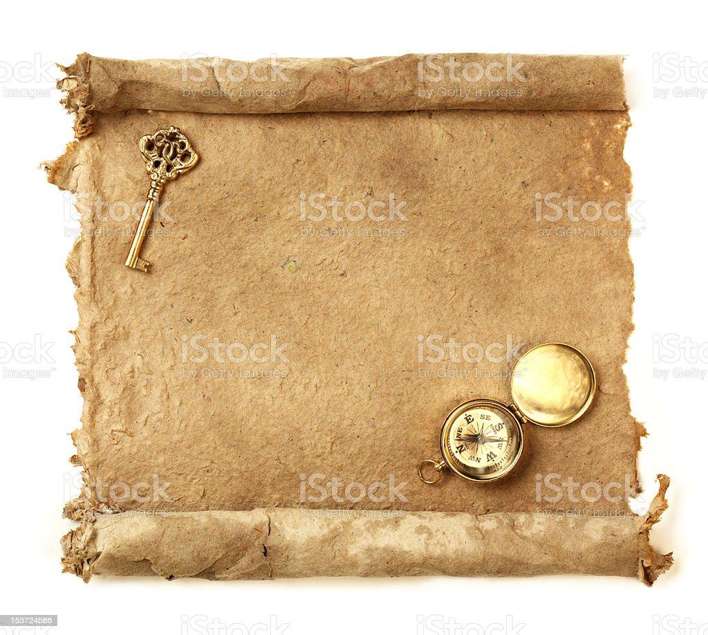 Handmade paper scroll royalty-free stock photo