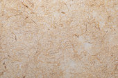 istock Handmade paper texture with vegetable fibers like straw. In delicate tones, yellows, oranges, browns and vanilla. 1015260434
