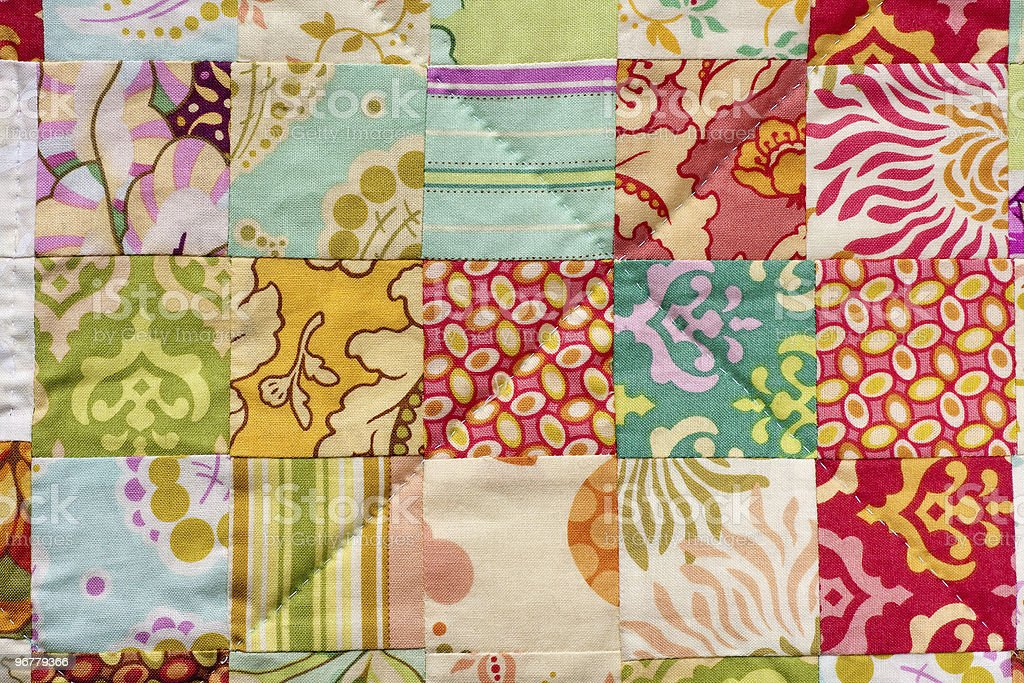 Handmade Patchwork Quilt royalty-free stock photo