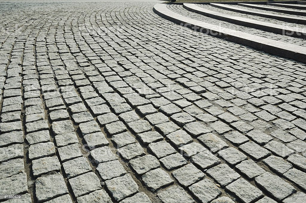 hand-made pavement royalty-free stock photo