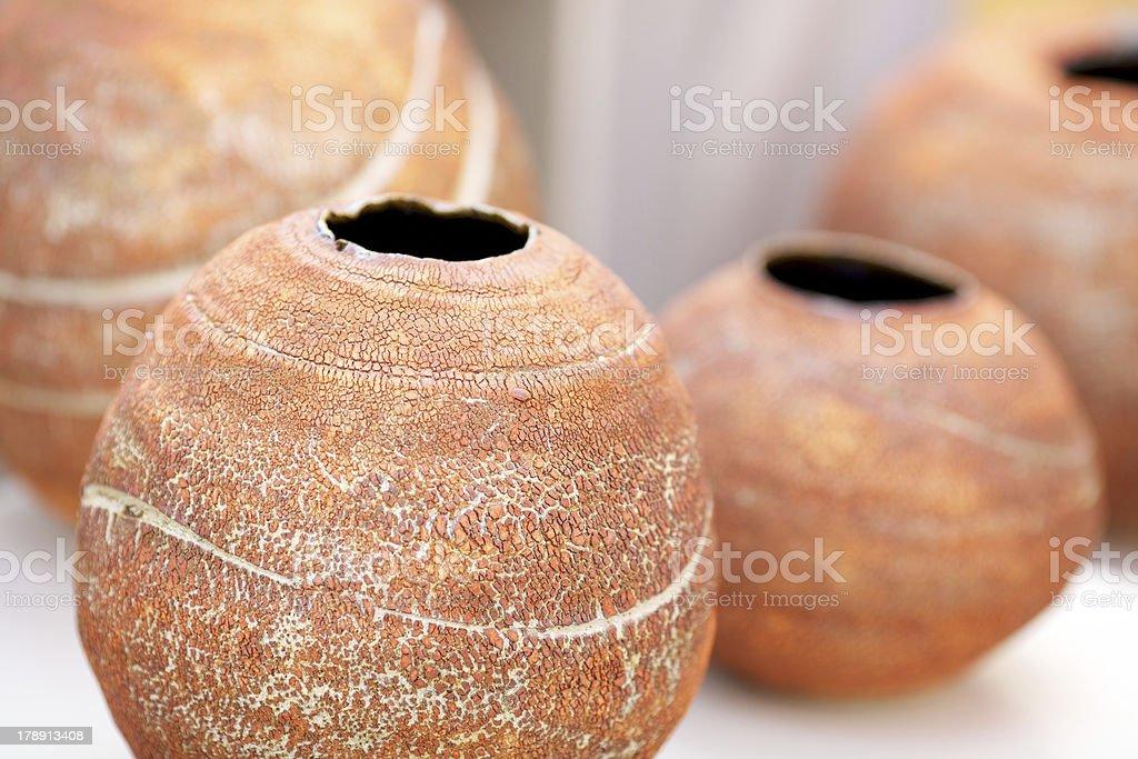 Handmade pots royalty-free stock photo