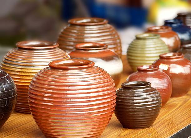 Handmade Pottery stock photo