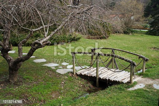 simple wooden bridge