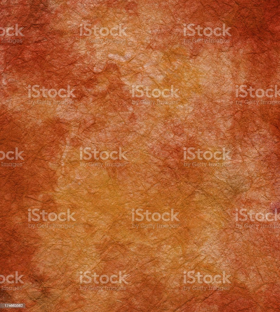 handmade rust colored paper stock photo