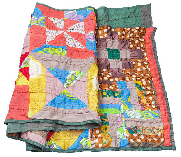 handmade scarf in the style of patchwork - quilt stock photos and pictures