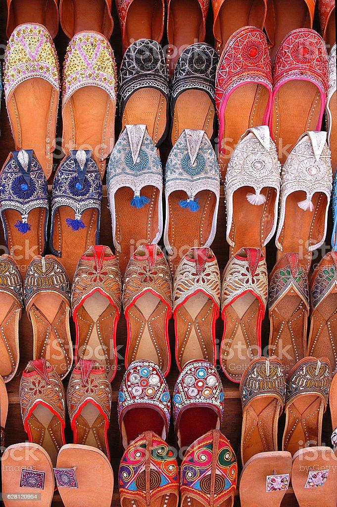Handmade shoes in Jaisalmer - foto de stock
