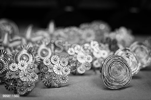 Original jewelry concept. Black and white photography
