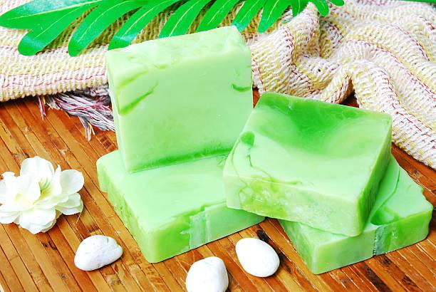 Barras de jabón hecho a mano - foto de stock
