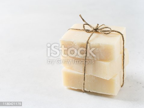 istock Handmade soap, spa and body care concept, wellness 1130421175