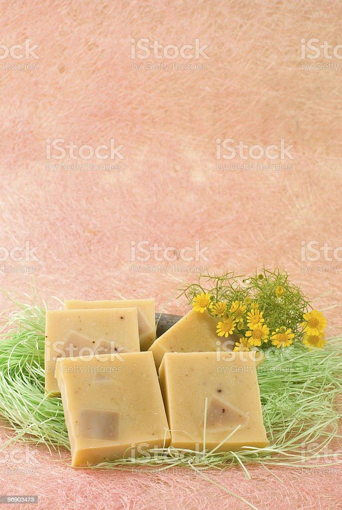 handmade Soap with littele flower royalty-free stock photo