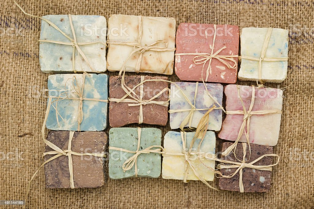 Handmade soaps stock photo