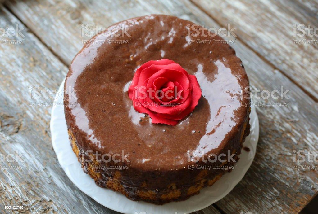 Handgemachte Kuchen Mit Schokolade Zuckerguss Kleine Kuchen Mit
