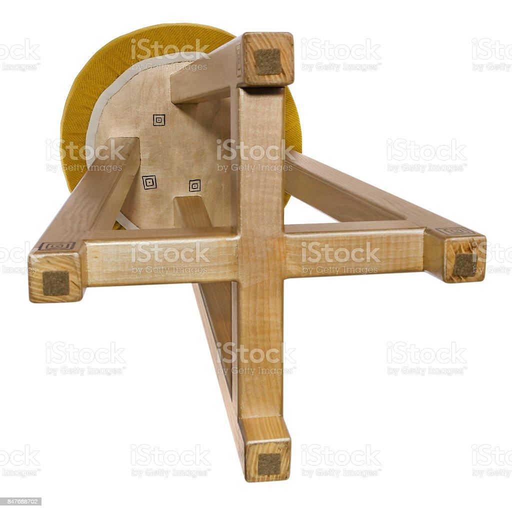 Excellent Handmade Stool Wooden Gold With Black Pattern Round Seat Machost Co Dining Chair Design Ideas Machostcouk