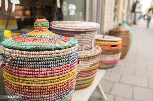 Handmade straw baskets for sale in stockholm in Sweden, Stockholm County, Upplands Väsby