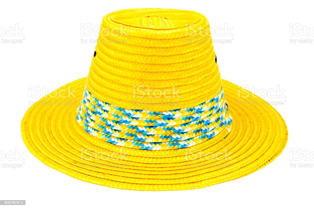 561d6a0c Handmade Straw Hat Isolated on white background.with clipping path.  royalty-free stock