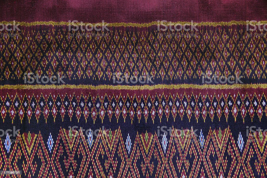 Handmade Thai Silk / Fabric Background, Abstract, Texture. royalty-free stock photo