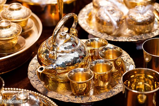 686515422istockphoto Handmade thailand Traditional brass ware for use and decoration 1169945862