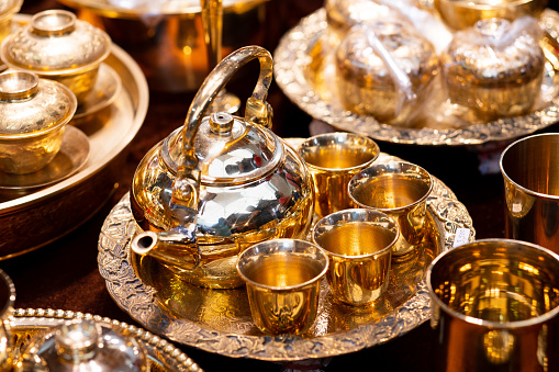 686515422 istock photo Handmade thailand Traditional brass ware for use and decoration 1169945862