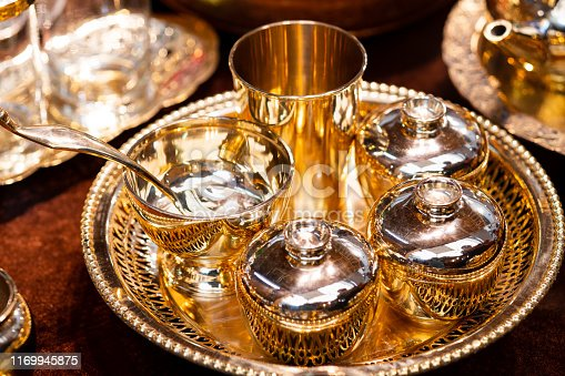 686515422istockphoto Handmade thailand Traditional brass ware for use and decoration 1169945875
