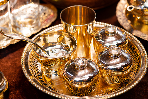 686515422 istock photo Handmade thailand Traditional brass ware for use and decoration 1169945875
