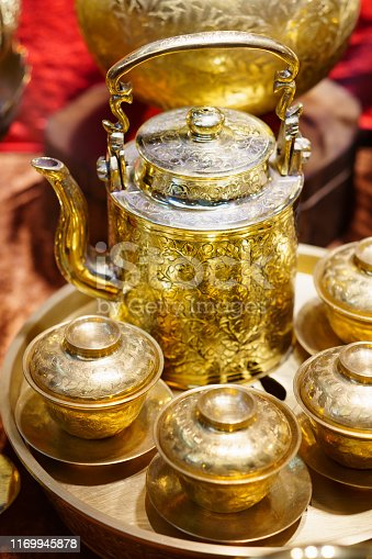 686515422istockphoto Handmade thailand Traditional brass ware for use and decoration 1169945878