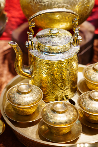 686515422 istock photo Handmade thailand Traditional brass ware for use and decoration 1169945878
