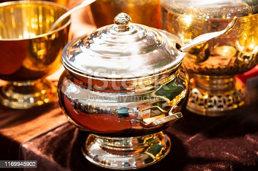 686515422istockphoto Handmade thailand Traditional brass ware for use and decoration 1169945902