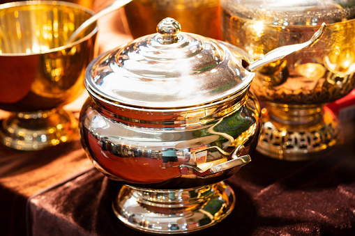 686515422 istock photo Handmade thailand Traditional brass ware for use and decoration 1169945902
