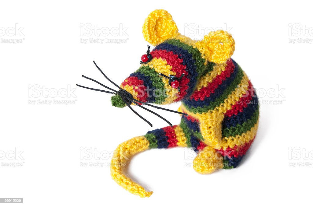 Handmade toy mouse royalty-free stock photo