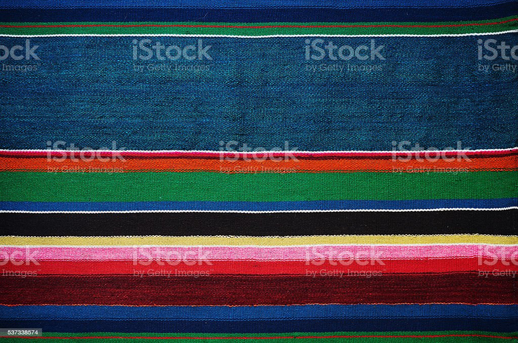 Handmade traditional old ukrainian colorful striped carpet rug texture stock photo