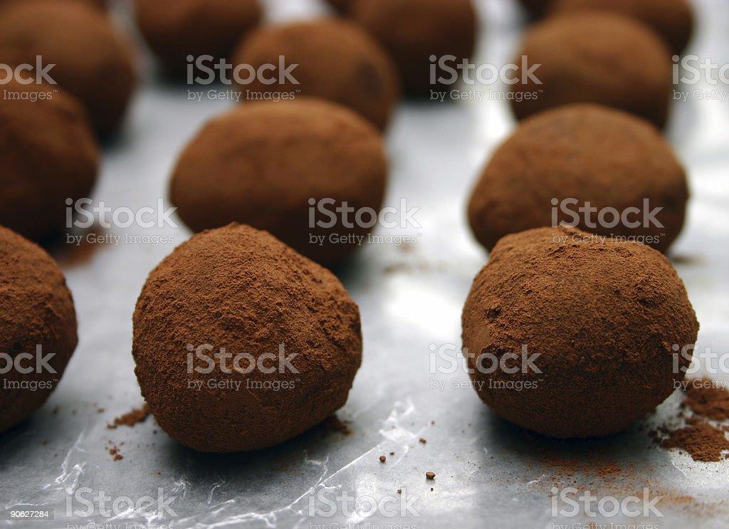 Handmade Truffles (2) stock photo