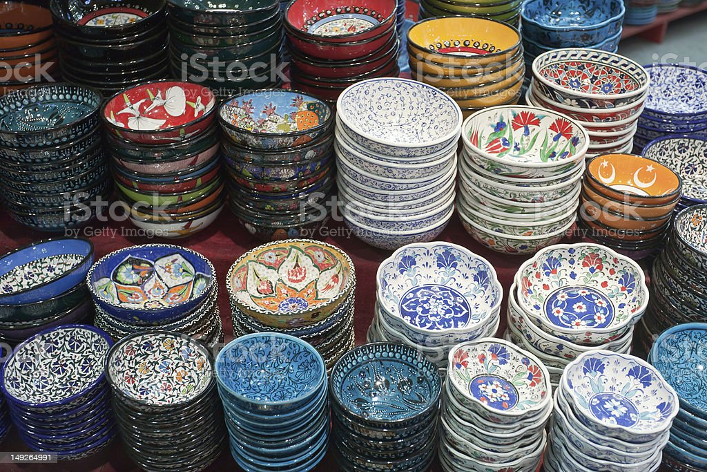 Plates For Sale >> Handmade Turkish Plates For Sale Stock Photo Download