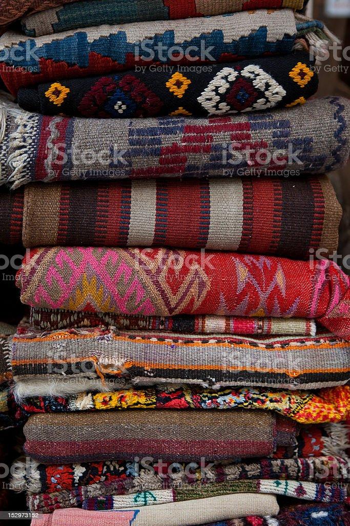 Handmade Turkish Rugs royalty-free stock photo