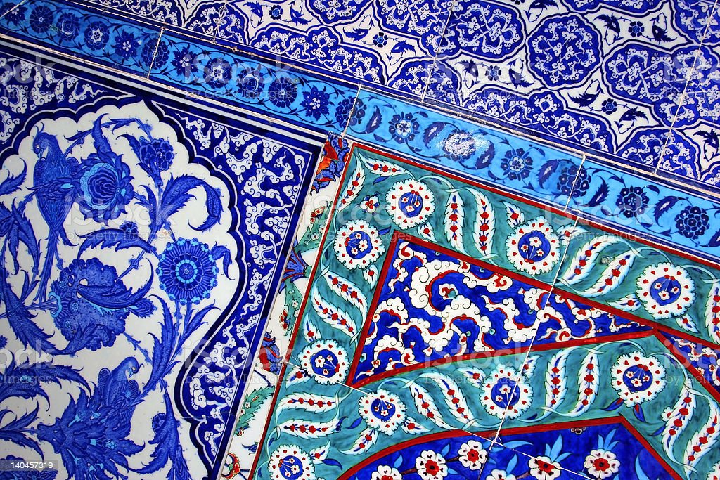 Handmade Turkish tiles royalty-free stock photo