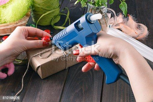istock Handmade using hot melt gun 510168026