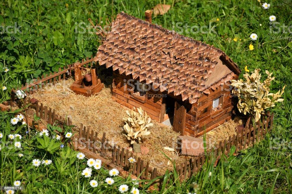handmade village house royalty-free stock photo