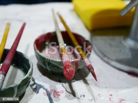 627000458istockphoto Handmade with paints a ceramic 974660704