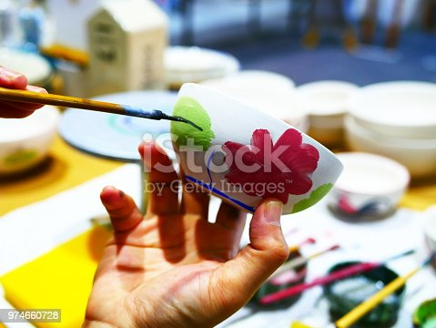 627000458istockphoto Handmade with paints a ceramic 974660728