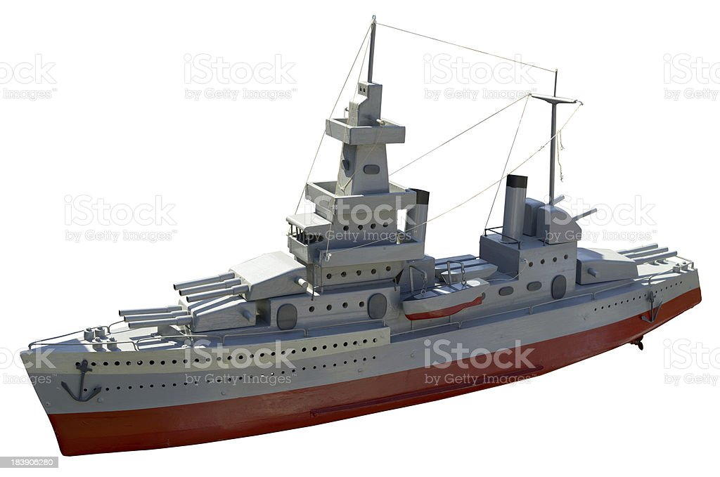 handmade  wood warship stock photo