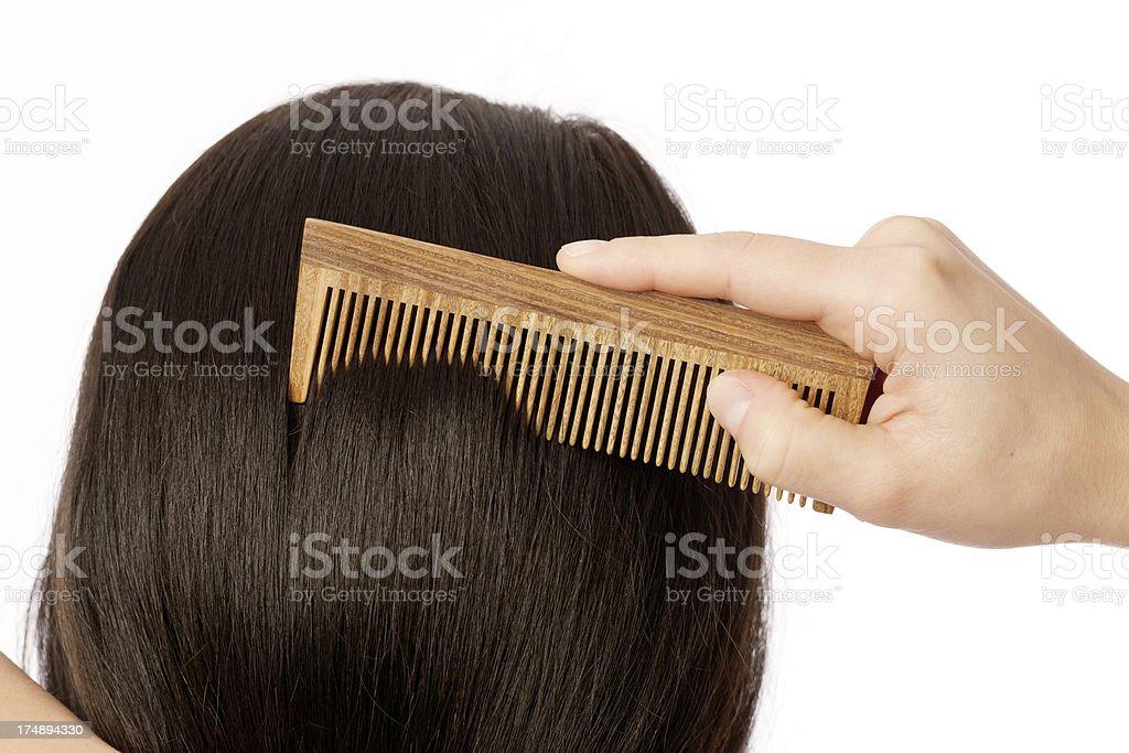 Handmade wooden comb royalty-free stock photo