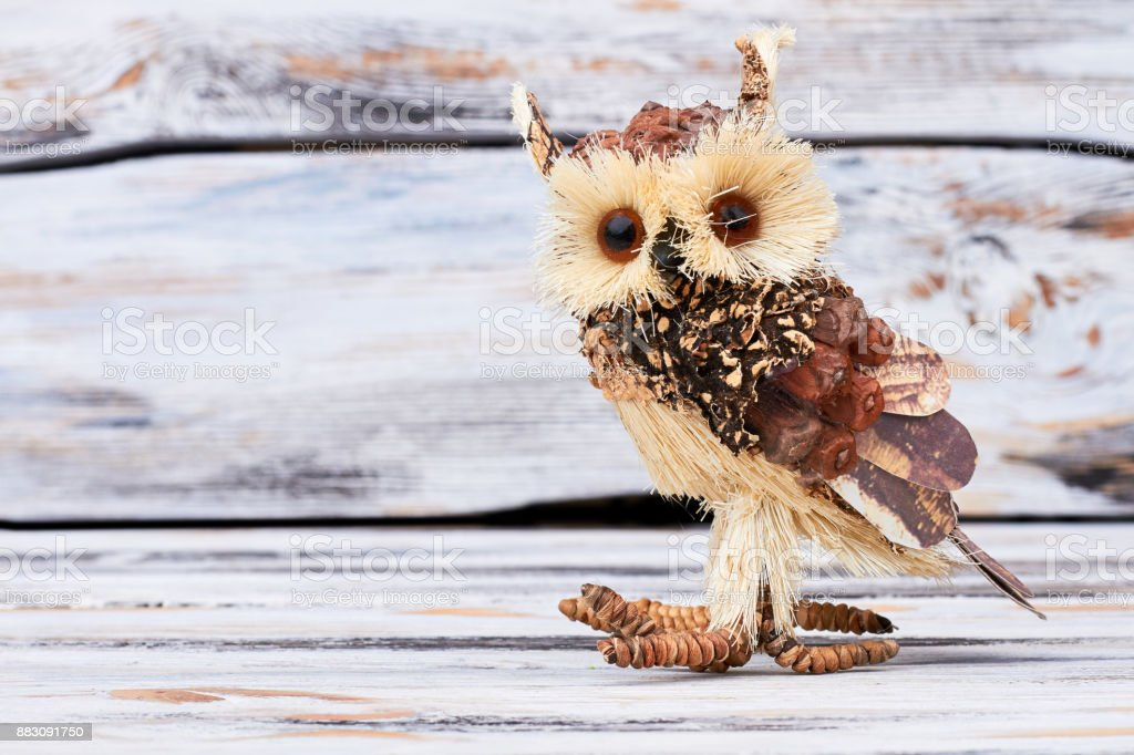 Handmade Wooden Owl On Wooden Background Stock Photo Download Image Now Istock