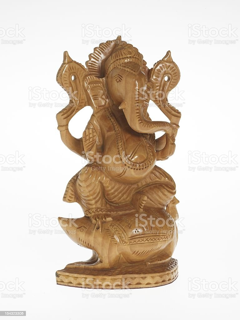 Handmade wooden sculptures royalty-free stock photo