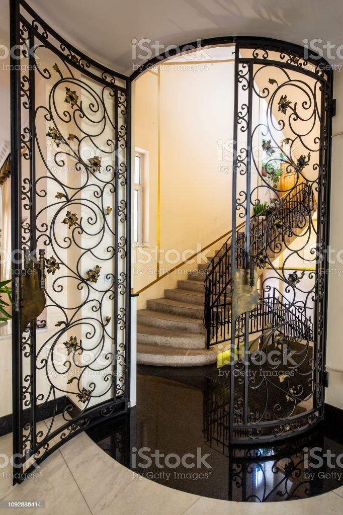 Handmade Wrought Iron Railing .luxury lobby interior
