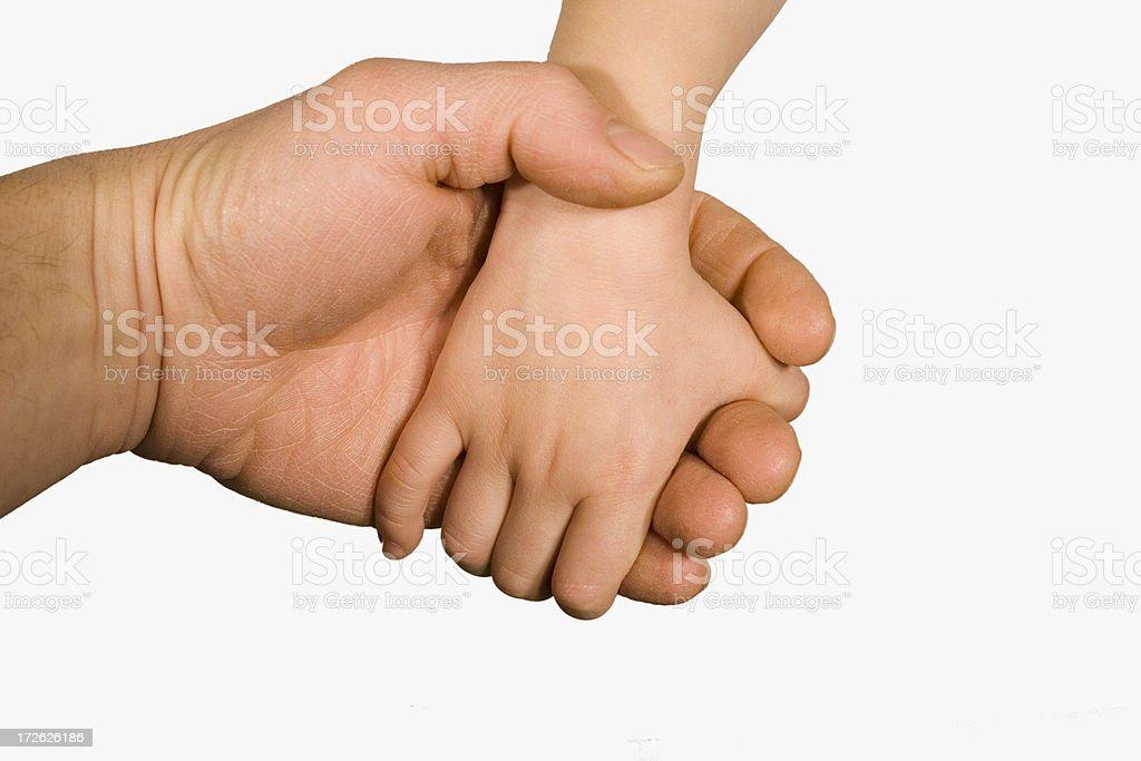 Hand'n Hand royalty-free stock photo